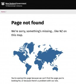 New Zealand Government not found page