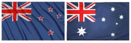 New Zealand vs Australian flags