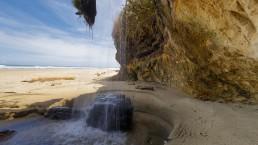 Ripiro Beach waterfall