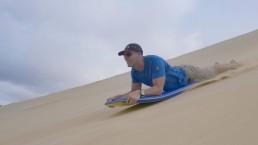 Te Paki dunes sandboarding
