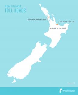 New Zealand NZTA toll roads map