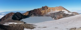 View of Ruapehu crater lake from Dome Summit